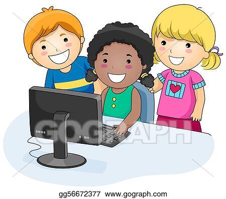 Schulklasse im unterricht clipart  School Illustrations - Royalty Free - GoGraph