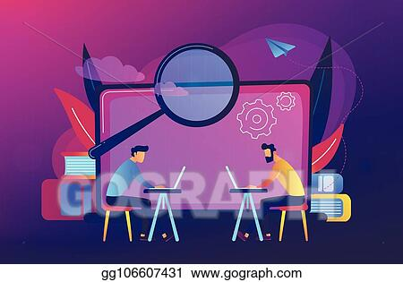 EPS Illustration - Computer lab concept vector illustration  Vector
