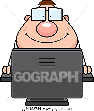 Vector Art Computer Nerd Clipart Drawing Gg56152784 Gograph