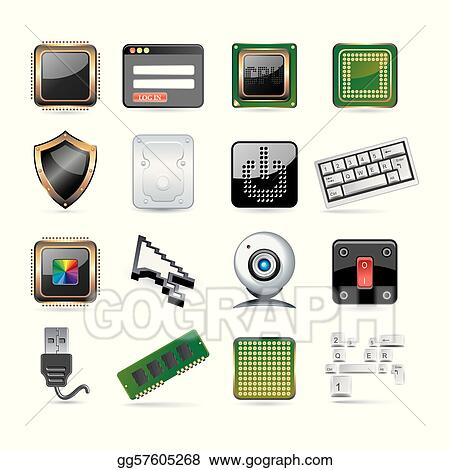 Computer Parts Clip Art Royalty Free Gograph