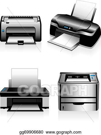 vector art computer printers laser printers clipart drawing gg69906680 gograph vector art computer printers laser