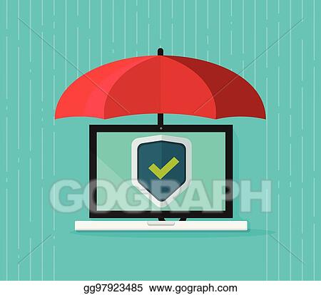 EPS Illustration - Computer protection concept vector, flat