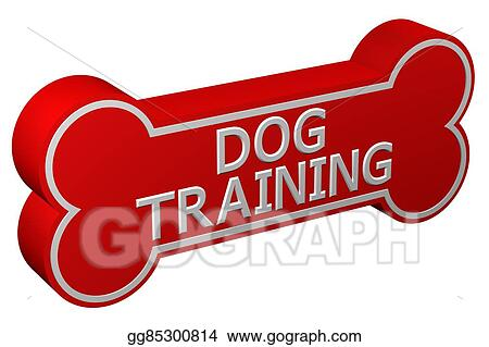 Drawings - Concept: dog training  3d rendering  Stock