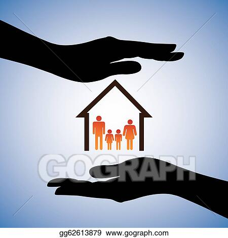 Vector Illustration Concept Illustration Of Safety Of House And