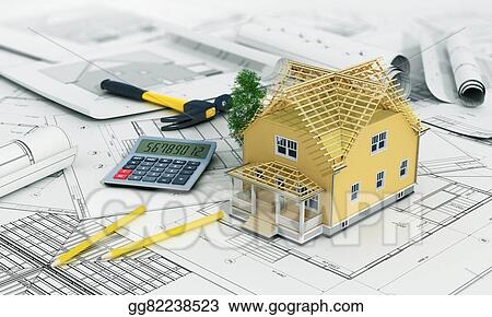 Stock Illustration Concept Of Construction And Architect Design