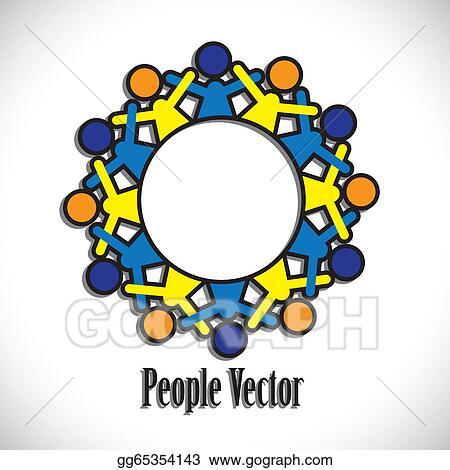 vector art concept vector graphic abstract colorful kids having rh gograph com Ukulele Clip Art Disney Clip Art