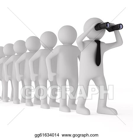 Stock Illustration Conceptual Image Of Leadership Isolated 3d On White Clipart Illustrations Gg61634014 Gograph