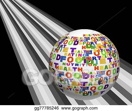 stock illustration conceptual image of tag cloud containing words