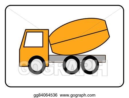 Eps Vector Concrete Mixer Truck Icon Stock Clipart