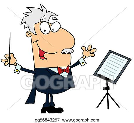 vector stock conductor man stock clip art gg56843257 gograph rh gograph com conductor hat clipart music conductor clipart