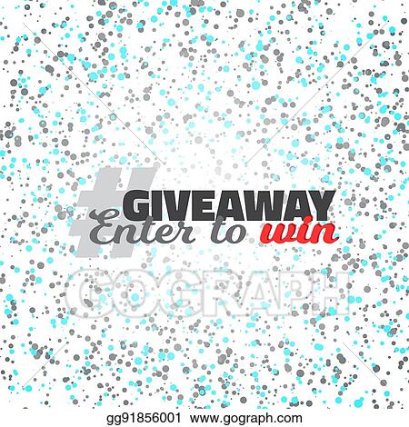 clip art vector confetti giveaway competition template stock eps
