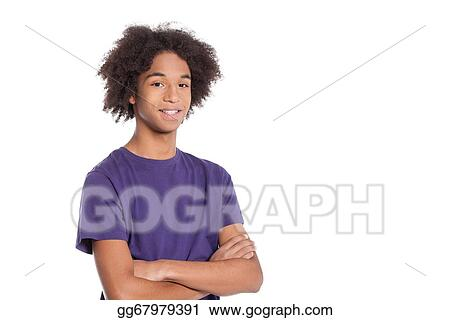 Pictures Confident Teenager Smiling African Teenage Boy
