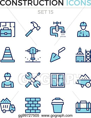 Vector Illustration - Construction icons  vector line icons