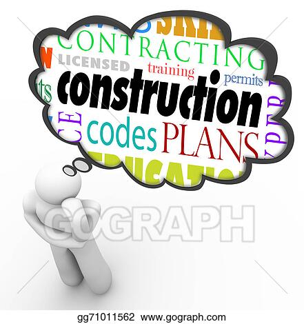 drawing construction license permit code builder words thought