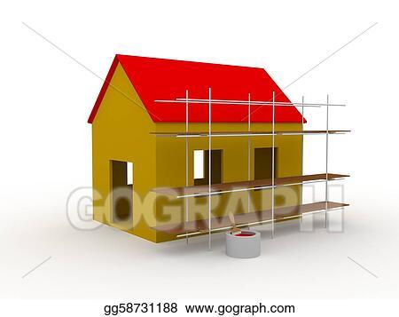 House Construction Clip Art : Stock illustration construction clip art gg gograph