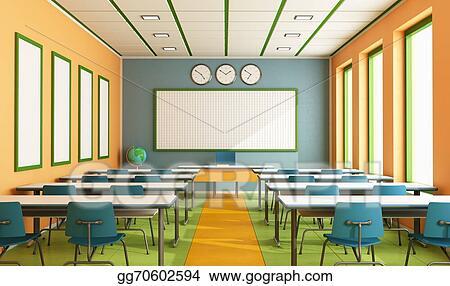 Stock Illustration Contemporary Classroom Clipart