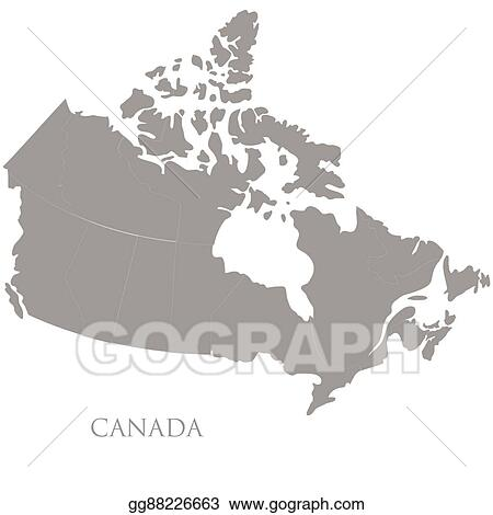 Map Of Canada Eps.Vector Illustration Contour Map Of Canada On White Background Eps