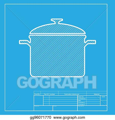 vector illustration cooking pan sign white section of icon on