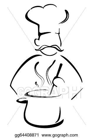Little Chef with a Giant Boiling Pot | Caricaturas de niños, Cocinar  dibujo, Dibujos