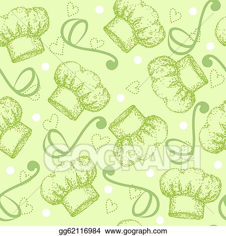 8ef11f6bb16 Vector Illustration - Cooking seamless pattern with chef hat. EPS ...