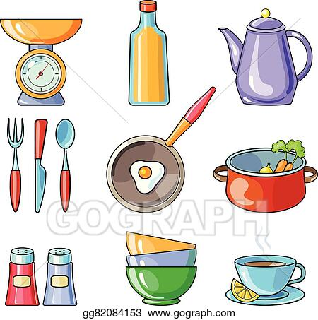 Vector Art Cooking Tools And Kitchenware Equipment Clipart Drawing Gg82084153 Gograph