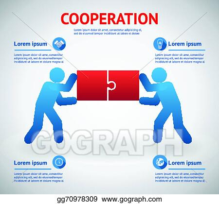 Vector Art - Cooperation and teamwork template. EPS clipart ...