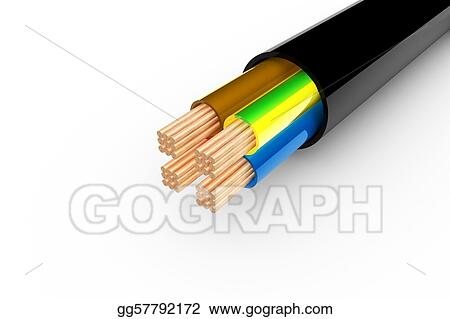 Stock Illustration - Copper cable. Clip Art gg57792172 - GoGraph