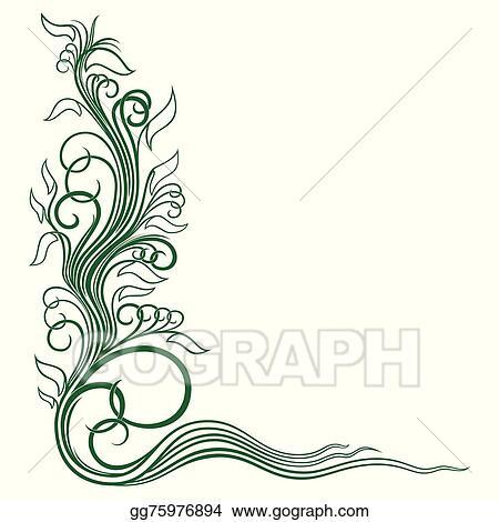 vector art corner floral ornament clipart drawing gg75976894 gograph https www gograph com clipart license summary gg75976894