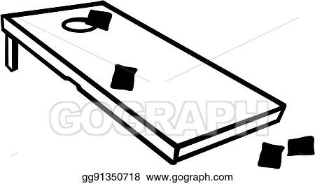 eps vector cornhole game with bags stock clipart illustration rh gograph com Cornhole Boards Cornhole Boards