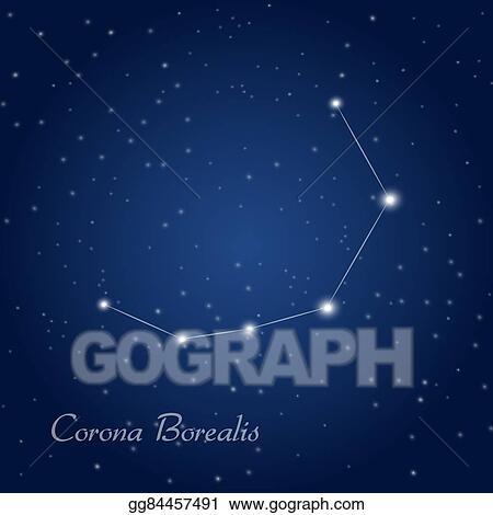 Clip Art Vector Corona Borealis Constellation Stock Eps Gg84457491 Gograph