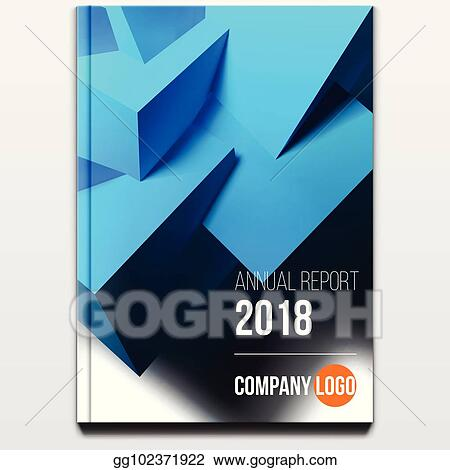 vector illustration corporate booklet cover or annual report and