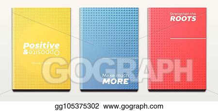 vector illustration corporate booklet covers or annual reports