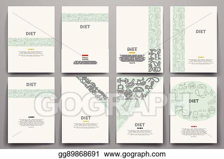 vector art corporate identity vector templates set with doodles