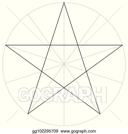 c74f2a7685470 Correct form shape template geometric shape of the pentagram five pointed  star, vector drawing the pentagram in a circle by sector, template