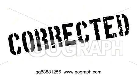 eps vector corrected rubber stamp stock clipart illustration