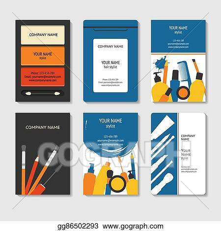 Eps Vector Cosmetic And Beauty Business Cards Set Stock Clipart