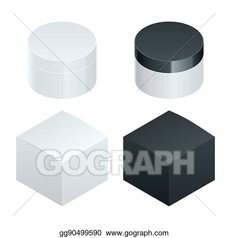 EPS Illustration - Cosmetic and template, glass bottle with lotion