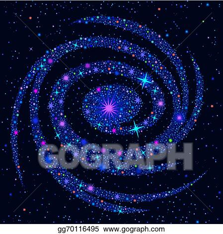 Galaxy cosmic. Vector art background with