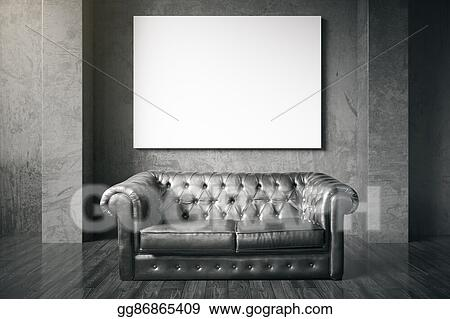 Brilliant Stock Photography Couch And Blank Billboard Stock Photo Machost Co Dining Chair Design Ideas Machostcouk