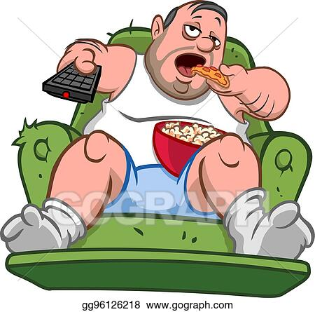 vector stock couch potato man stock clip art gg96126218 gograph rh gograph com Potato Clip Art Potato Clip Art