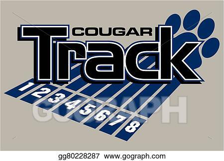 vector stock cougar track clipart illustration gg80228287 gograph rh gograph com Animal Tracks Clip Art Wolf Tracks Clip Art