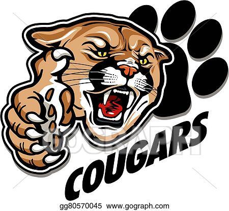 eps vector cougars mascot stock clipart illustration gg80570045 rh gograph com Panther Mascot Mountain Lion Mascot Clip Art