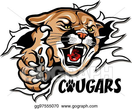 eps vector cougars mascot stock clipart illustration gg97555070 rh gograph com Puma Mascot Clip Art Puma Mascot Clip Art