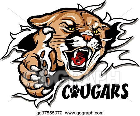 eps vector cougars mascot stock clipart illustration gg97555070 rh gograph com cougar school mascot clipart
