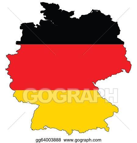 stock illustration country outline with the flag of germany rh gograph com germany clipart free germany clipart png
