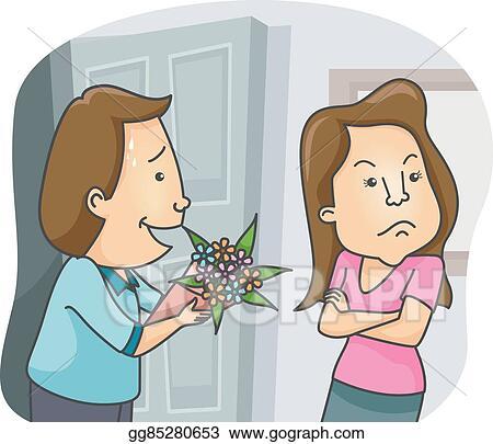 Vector Stock - Couple flowers sorry gift. Stock Clip Art ...