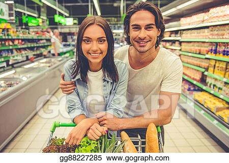 Pictures Couple In The Supermarket Stock Photo Gg88227285