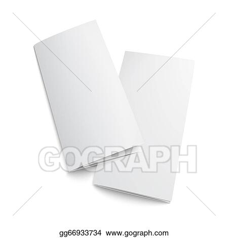 clip art vector couple of blank trifold paper brochure stock eps