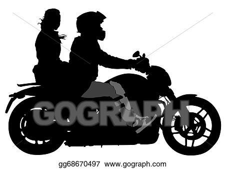 Vector Stock Couple On Moto Clipart Illustration Gg68670497 Gograph