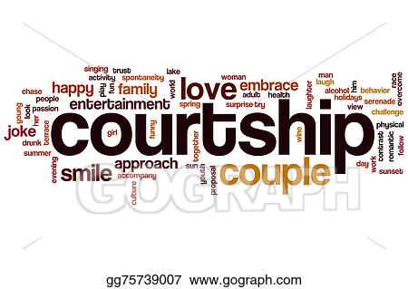 Another word for courtship